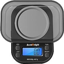 ACCUWEIGHT 255 Mini Balance de Poche 0.1g Électronique Balance de Precision avec Écran LCD Rétro-éclairage, Fonction de Ta...