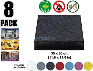 Arrowzoom New 8 Pieces 11.8 X 11.8 inches Black Acoustic Soundproofing Insulation Panel Tiles AZ1093 (BLACK)