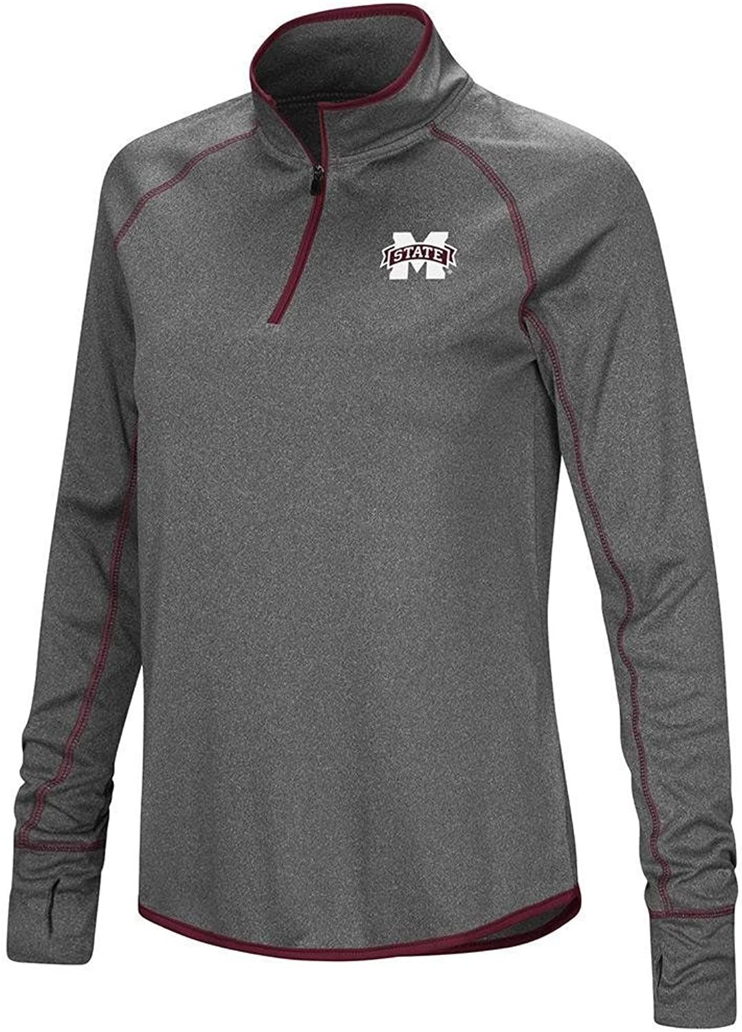 Colosseum Womens Mississippi State Bulldogs Quarter Zip Wind Shirt