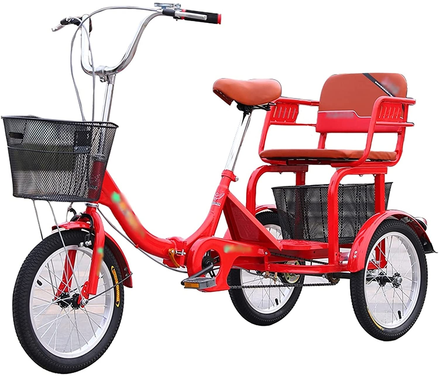 PARTAS Detroit Mall 16 Inch Weekly update Bikes 3 Wheel with Adult Shopping Bicycle Basket