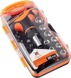 Ratchet Screwdriver Set. Magnetic Screw Driver Bits. T Handle Bar Socket Wrench. Torx, Phillips, Star, Flathead, Hex, Pozi drive selection. Cr-V
