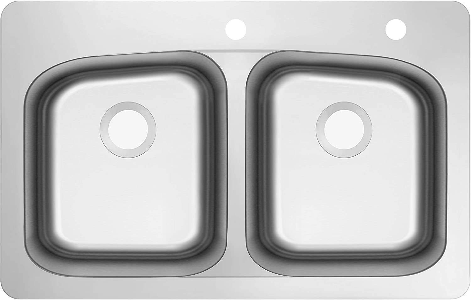 Outlet ☆ Free Shipping Now free shipping Soleil SSDM50-V 33-in x 22-in 18-Gauge Dou 50 Stainless Steel
