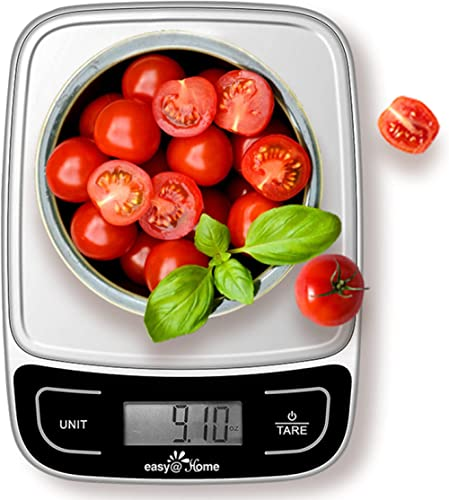 Easy@Home Digital Kitchen Scale Food Scale with High Precision to 0.04oz and 11 lbs Capacity, Digital Multifunction M...
