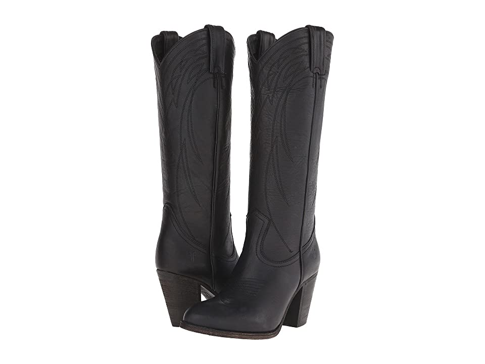 Frye Ilana Pull On (Black Washed Oiled Vintage) Cowboy Boots