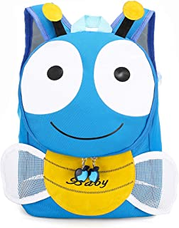 Unisex Toddler Kids Backpack Cartoon Bee Animal 3D Backpack with Flapping Wings, Nursery School Bag for Boys Girls Daycar...