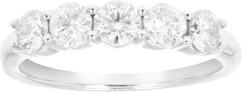 Vir Jewels IGI Certified 14K gold Diamond 5Stone Ring (1 CT)