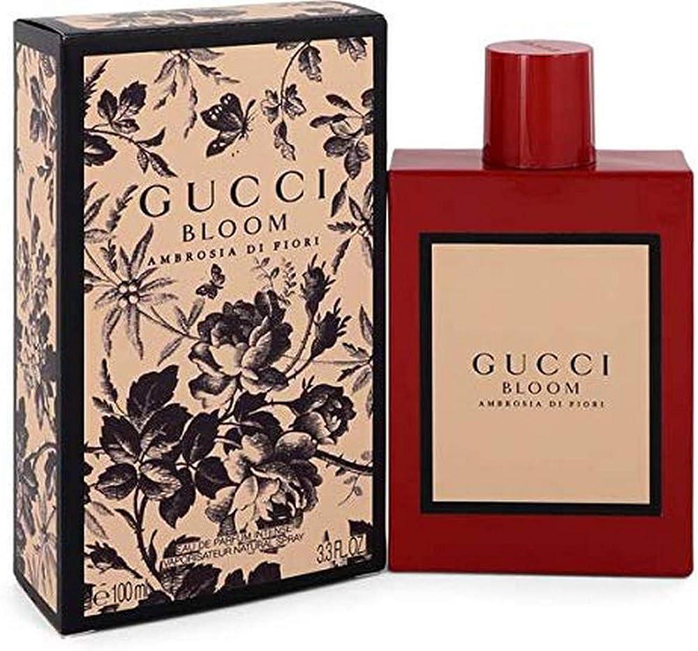 gucci bloom ambrosia di fiori, eau de parfum intense 100ml spray 3614228958691