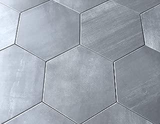 10.2 x11.4 Mama Mia Gray Hexagon Gris Porcelain Tile Floor