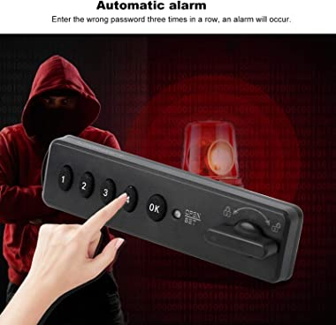 Security Password Lock Intelligent Electronic Lock Drawer Keyless Lock Touch Keypad Safe and Efficient Home for School for Of