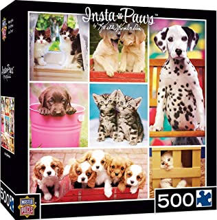 MasterPieces Instapaws #BabyBesties - Puppies & Kittens 500 Piece Jigsaw Puzzle by Keith Kimberlin
