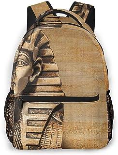 Mochila Tipo Casual Mochila Escolares Mochilas Estilo Impermeable para Viaje De Ordenador Portátil hasta 14 Pulgadas Egipto Rey Tut Bust Gold Treasure