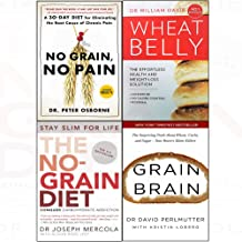 No grain, no pain, wheat belly, no-grain diet, grain brain 4 books collection set