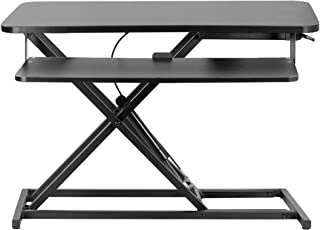 VIVO Height Adjustable 32 inch Stand Up Desk Converter, Quick Sit to Stand Tabletop Dual Monitor Riser Workstation, Black,...