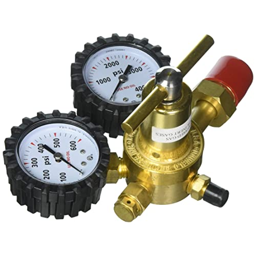 Uniweld RHP400 Nitrogen Regulator with 0-400 PSI Delivery Pressure, CGA580 Inlet Connection and
