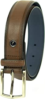 Nautica Men's Belt with Dress Buckle and Stitch