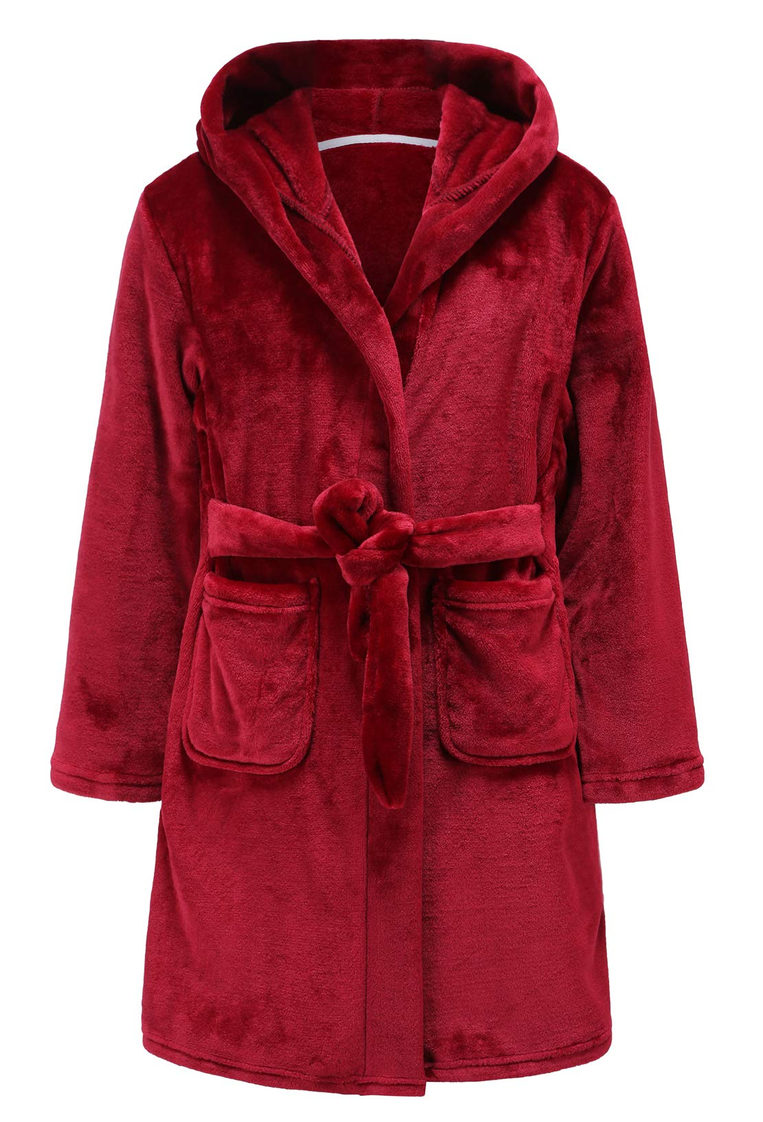 Image of Burgundy Flannel Robe for Boys and Toddlers - See More Colors