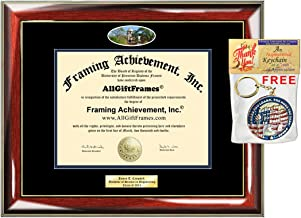 Diploma Frame University of Notre Dame Graduation Gift Idea ND Engraved Picture Frames Engraving Degree Certificate Holder Graduate Him Her Nursing Business Engineering Education School