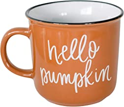 Hello Pumpkin Mug Fall Mug Autumn Mug Campfire Coffee Mug Orange Coffee Gift Decorations Pumpkin Spice Halloween Autumn Themed Morning Pumpkin Cup Basic PSL Womens Cute Mugs Pumpkin Spices Dinnerware