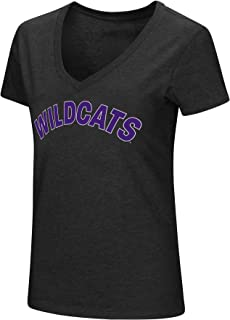 Colosseum Womens NCAA-Valuable Commodity-Dual Blend V-Neck Slim Fit T-Shirt