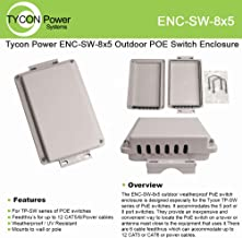Tycon Systems ENC-SW-8x5 Outdoor Enclosure For TP-SW 5 And 8 Port POE Switches
