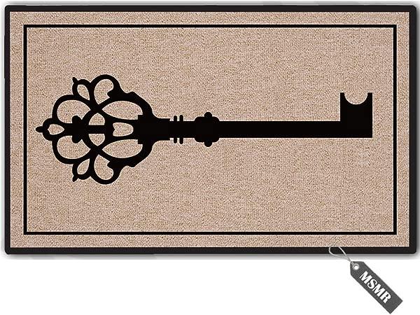 MsMr Funny Door Mat Entrance Floor Mat Key Non Slip Doormat Welcome Mat 23 6 Inch By 15 7 Inch Machine Washable Non Woven Fabric