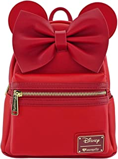 Loungefly Minnie Mouse Red Faux Leather Mini Backpack