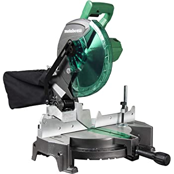 "Metabo HPT C10FCGS Compound Miter Saw, 10-Inch, Single Bevel, 15-Amp Motor, 0-52° Miter Angle Range, 0-45° Bevel Range, Large Table, 10"" 24T TCT Miter Saw Blade"