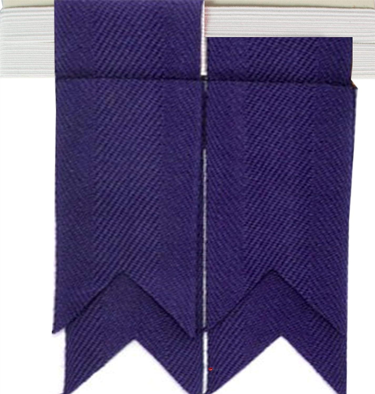 Boys Kilt Flash Single Garter Pure Wool Plain Colours