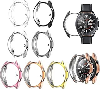 QZ TPU Screen Protector Case Cover for Samsung Galaxy Watch 3 41mm 45mm (Color : 2, Size : 45mm)