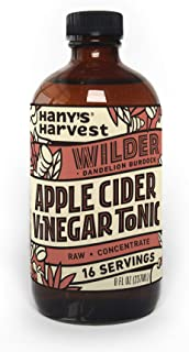 Hany's All Natural Wilder Apple Cider Vinegar Tonic with Burdock and Dandelion Roots 8 oz