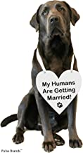 Pulse Brands Engagement Photo Prop Sign - My Humans are Getting Married - Engagement Gifts - Bride to Be - Engaged - Engagement Gifts for Couples (White)