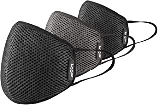 VIP Men's Cotton Cloth Face Mask (MKVSA3LGAST_Black & Grey_Large)