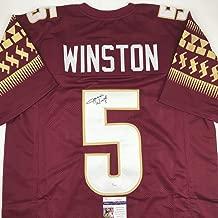 Autographed/Signed Jameis Winston Florida State Maroon College Football Jersey JSA COA