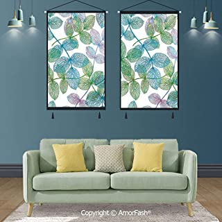 SCOXIXI Floral,Poster Picture Artwork Canvas Hanging,17.7