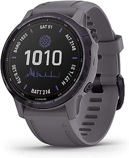 Garmin fēnix 6s Pro Solar, Smaller-sized Solar-powered Multisport GPS Watch, Advanced Training Features and Data, Amethyst...