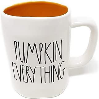 Rae Dunn By Magenta PUMPKIN EVERYTHING Ceramic LL Coffee Tea Mug With Orange Interior