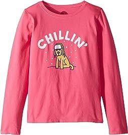 Chillin' Rocket Crusher T-Shirt Long Sleeve (Little Kids/Big Kids)