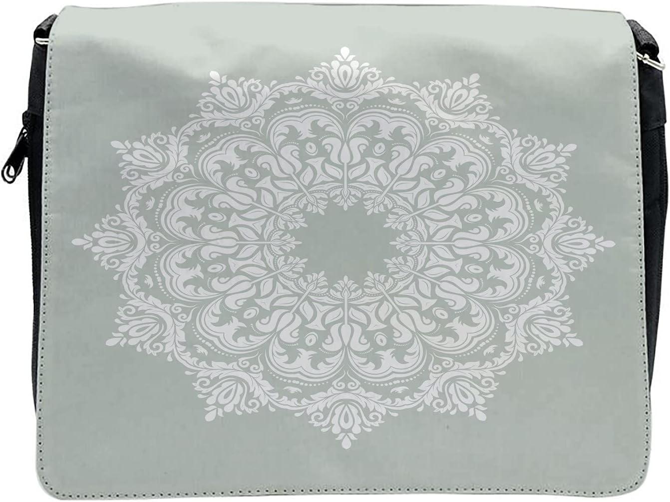 Ambesonne Orient Cross Body Messenger Bag, Damask Floral Motifs, Unisex