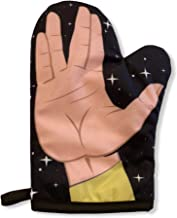 Crazy Dog T-Shirts Space Hand Oven Mitt Funny Live Long Alien Sign Kitchen Accessories (Oven Mitt)