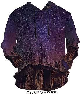 UHOO Underground View of Men's Hoodie Print Sweatshirt Pullover