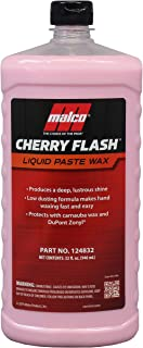 Malco Cherry Flash Automotive Liquid Paste Wax – Protect & Shine Your Vehicle/Easiest Way to Hand Wax Your Car/Lasting Gloss & Protection for Any Car, Truck, Boat or Motorcycle / 32 Oz. (124832)