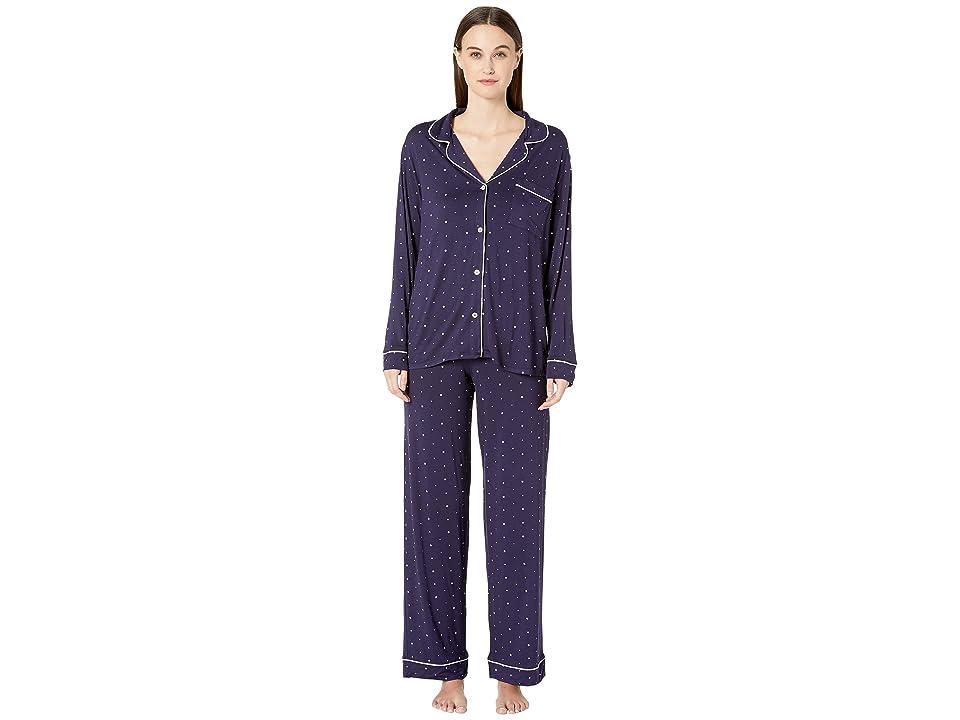 Eberjey Sleep Chic The Long Boxed Pajama Set (Northern Stars/Ivory) Women