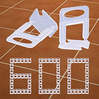 Tanzfrosch 600 PCS Tile Leveling System Clips 1/16''(1.5mm) 600-Piece Tiles Leveler Spacers Tool for Professional Ceramic ...
