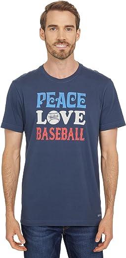 Peace Love Baseball Crusher Tee