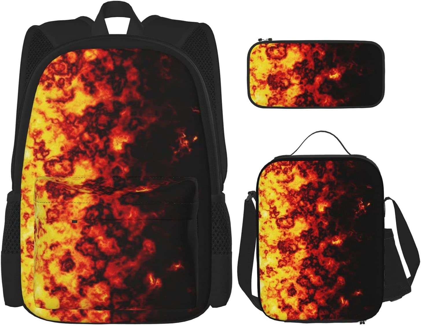 Backpack Bags Fire Border Bag with Lunch 3 2021new shipping latest free Pencil Pouch Case