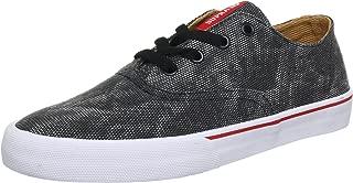 Supra Wrap S05026 Men's Performance Skateboarding Fashion Sneakers Shoes,8.5 black/red-white