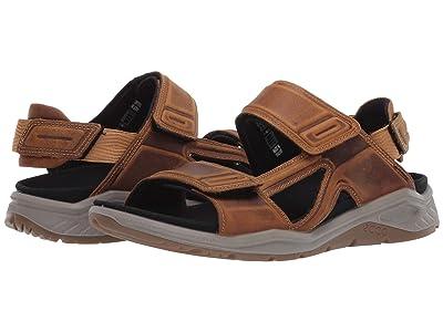 ECCO Sport X-Trinsic Leather Sandal (Cayote) Men