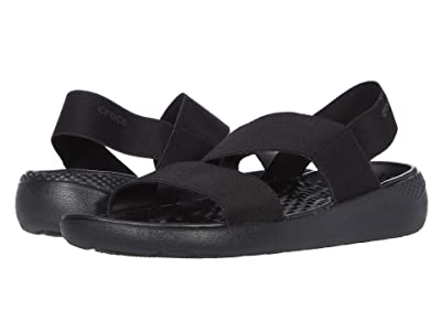 Crocs LiteRide Stretch Sandal (Black/Black) Women