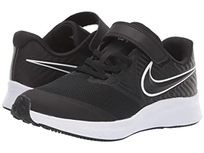 Nike Kids Star Runner 2 (Little Kid) (Black/White) Kids Shoes