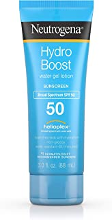 Neutrogena Hydro Boost Water Gel Non-Greasy Moisturizing Sunscreen Lotion with Broad Spectrum SPF 50, Water-Resistant, 3 fl. Oz (Pack of 3)